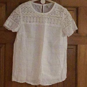 Lace & Linen white top